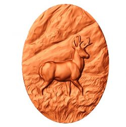 picture of young deer file stl free vector art 3d download for CNC