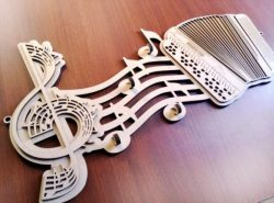 play music file cdr and dxf free vector download for Laser cut CNC
