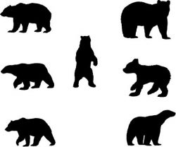 polar bear pattern file cdr and dxf free vector download for Laser cut plasma