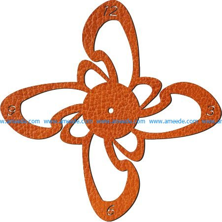 propeller wall clock file cdr and dxf free vector download for Laser cut plasma