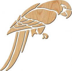 red-beaked parrot file cdr and dxf free vector download for print or laser engraving machines
