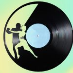 couple dancing wall clock file cdr and dxf free vector download for Laser cut CNC