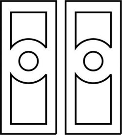 room door model file cdr and dxf free vector download for CNC cut