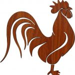rooster picture file cdr and dxf free vector download for Laser cut plasma