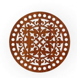 round tray pattern file cdr and dxf free vector download for Laser cut CNC