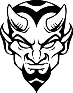 satan's head file cdr and dxf free vector download for print or laser