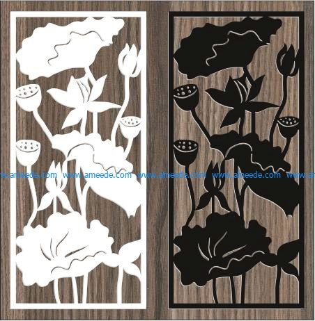 screen of the lotus in the lake file cdr and dxf free vector download for Laser cut CNC