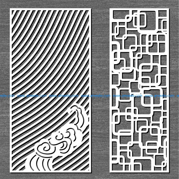screen ripples and connected squares free vector download for Laser cut CNC