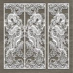 Screen style dragon oriental free vector download for Laser cut CNC
