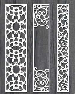 screen style vertical column file cdr and dxf free vector download for Laser cut CNC