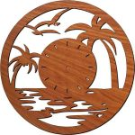 seagull-shaped wall clock flying in the sea free vector download for Laser cut plasma