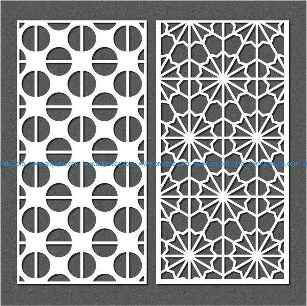 semicircular baffle pattern file cdr and dxf free vector download for Laser cut CNC