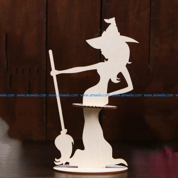 set of witch-shaped paper towels file cdr and dxf free vector download for Laser cut CNC