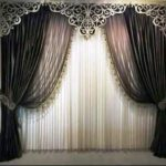 Crown-shaped curtain frame file cdr and dxf free vector download for Laser cutting CNC
