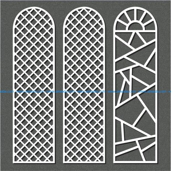 small dome shaped partition file cdr and dxf free vector download for Laser cut CNC