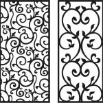 spiral vines pattern file cdr and dxf free vector download for Laser cut CNC