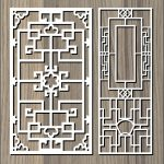 square hook pattern file cdr and dxf free vector download for Laser cut CNC