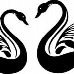 swan couple file cdr and dxf free vector download for print or laser engraving machines