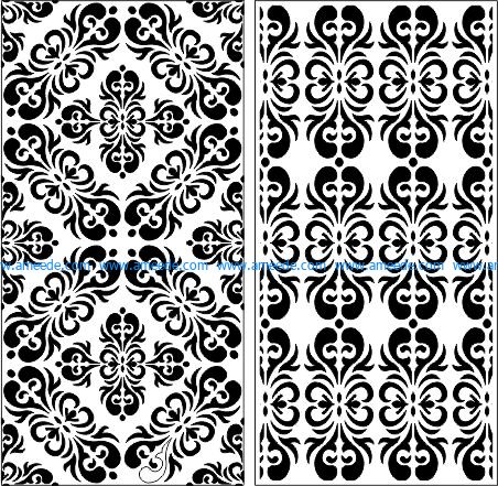 symmetrical pattern panel screen file cdr and dxf free vector download for Laser cut CNC