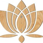 the lotus-shaped wall clock file cdr and dxf free vector download for Laser cut CNC