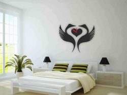 the swan clock in the bedroom file cdr and dxf free vector download for Laser cut plasma