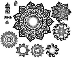 tower temple pattern file cdr and dxf free vector download for Laser