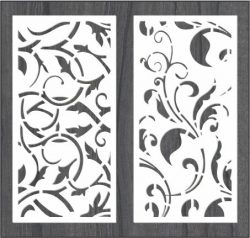twisted vines bulkhead file cdr and dxf free vector download for Laser cut CNC