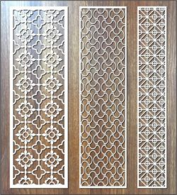 vertical column fish flower pattern file cdr and dxf free vector download for Laser cut CNC