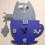 Cat and mouse clock file cdr and dxf free vector download for Laser cut Plasma file Decal