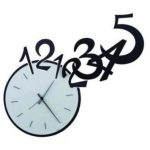 wall clock 12345 file cdr and dxf free vector download for Laser cut plasma