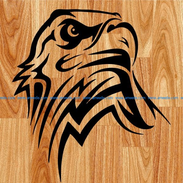 white eagle head file cdr and dxf free vector download for print or laser engraving machines