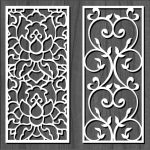 white flower bulkhead file cdr and dxf free vector download for Laser cut CNC