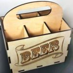 wooden box for beer file cdr and dxf free vector download for Laser cut CNC