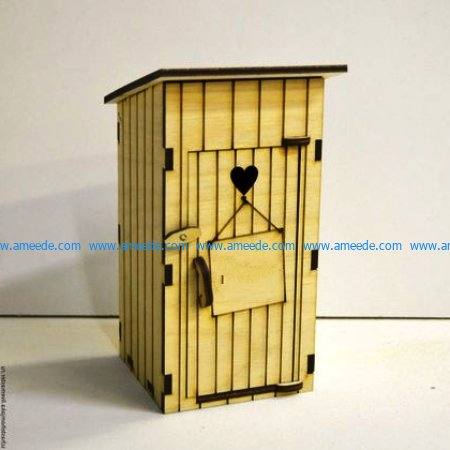 wooden piggy bank file cdr and dxf free vector download for Laser cut CNC