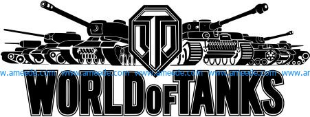 world of tanks file cdr and dxf free vector download for Laser cut Plasma file Decal