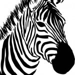 zebra head file cdr and dxf free vector download for print or laser