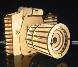 Camera file cdr and dxf free vector download for Laser cut