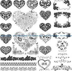 Cardiac flower file cdr and dxf free vector download for print or laser engraving machines