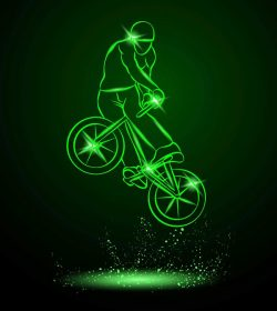 3D illusion led lamp Bicycle show file cdr and dxf free vector download for laser engraving machines