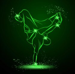 3D illusion led lamp Breakdance free vector download for laser engraving machines