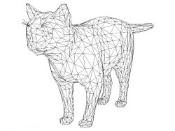 3D illusion led lamp Cat free vector download for laser engraving machines