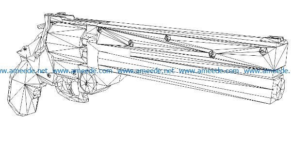 3D illusion led lamp Double-barreled gun free vector download for laser engraving machines