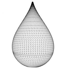 3D illusion led lamp Droplets free vector download for laser engraving machines