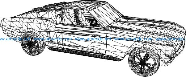 3D illusion led lamp Ford free vector download for laser engraving machines