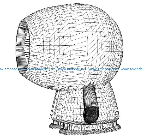 3D illusion led lamp Kenny free vector download for laser engraving machines