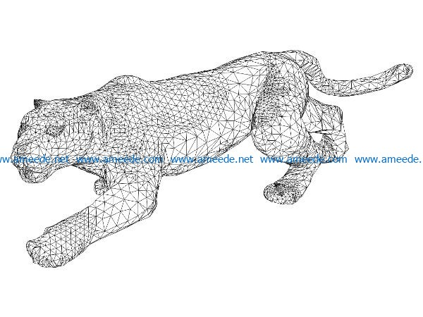 3D illusion led lamp Lion free vector download for laser engraving machines