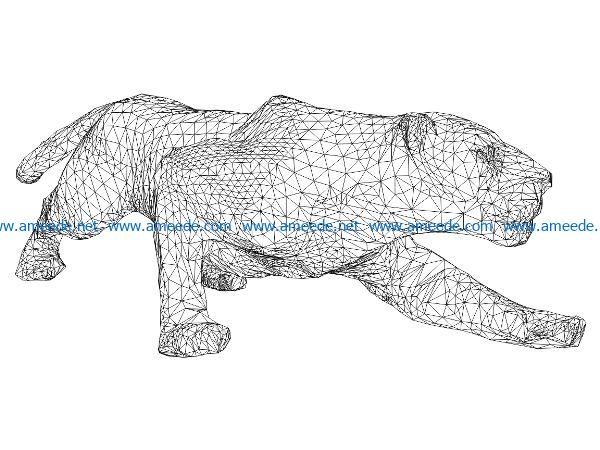 3D illusion led lamp Lions hunt prey free vector download for laser engraving machines
