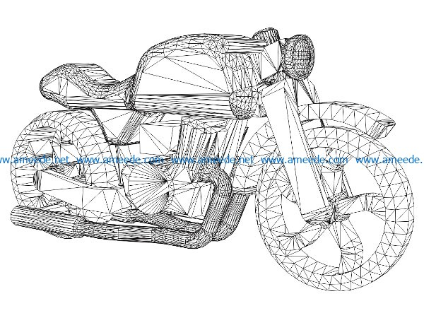 3D illusion led lamp Motorcycle free vector download for laser engraving machines
