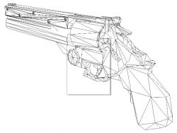 3D illusion led lamp Pistol gun free vector download for laser engraving machines