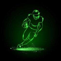 3D illusion led lamp Rugby athletes file cdr and dxf free vector download for laser engraving machines
